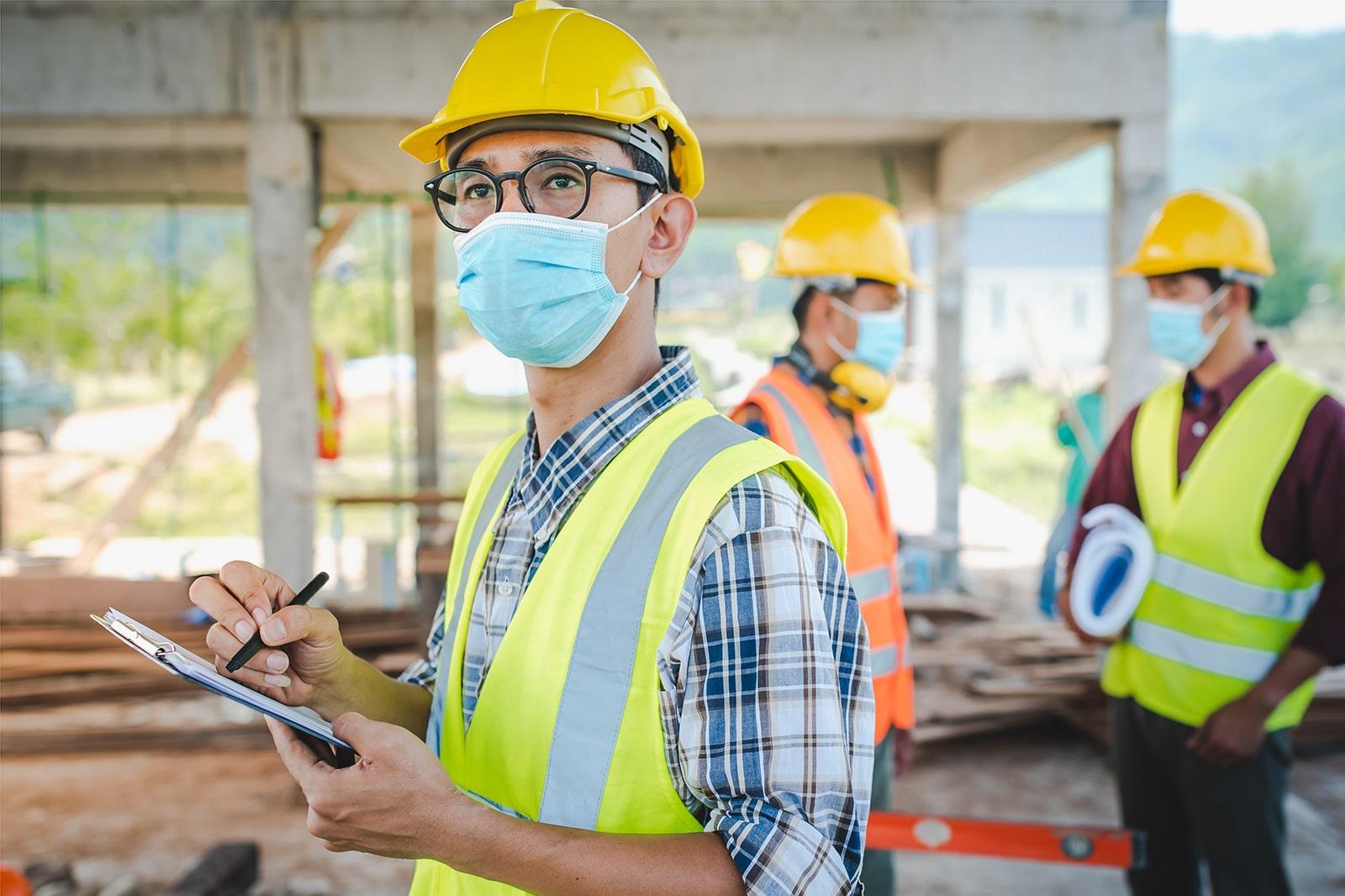 建設業務に従事する外国人